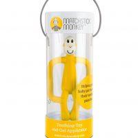 bijtaapje bijtspeeltje aap matchstick monkey bijtspeeltjes geel rood roze oranje grijs blauw matc stick monkey licht blauw grijs