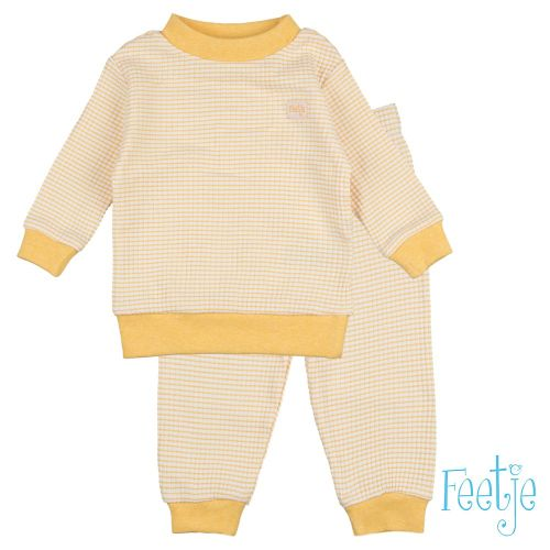 feetje wafel pyjama geel nieuw