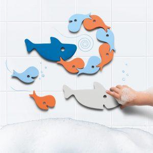 Quutopia badspeeltjes Badpuzzel shark haai onderstebovenpuck