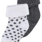 Noppies Socks 2 pack Dot Dark Grey Melange