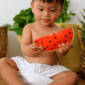 Wally watermelon oli&carol bijtfruit watermeloen bijtring bijtspeeltje