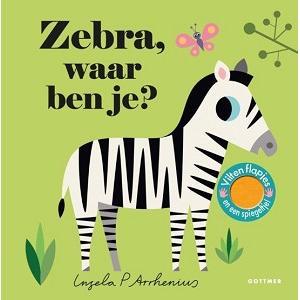 zebra waar ben je vilten flapjes boek speigeltje