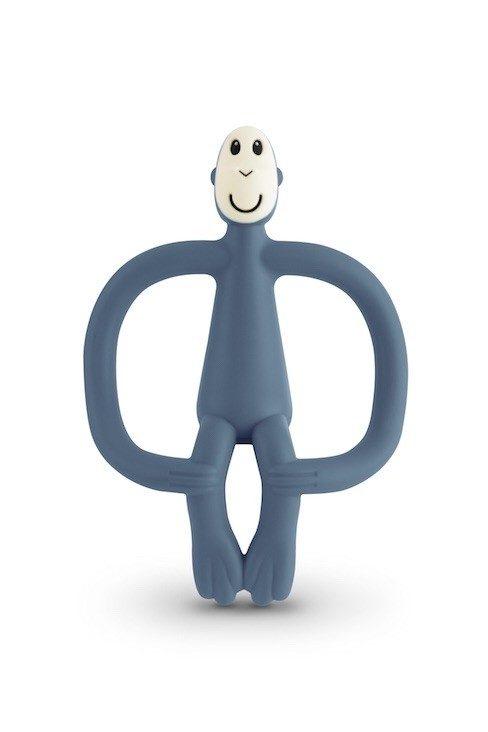 matchstick monkey bijtspeeltje jeans blauw ariforce blue natuurlijk rubber bijtaapje air force Blue jeans blauw