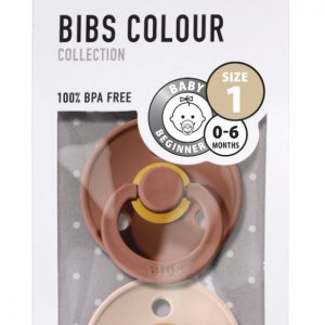 Bibs Fopspeen 2pack maat 1 Woodchuck/Blush