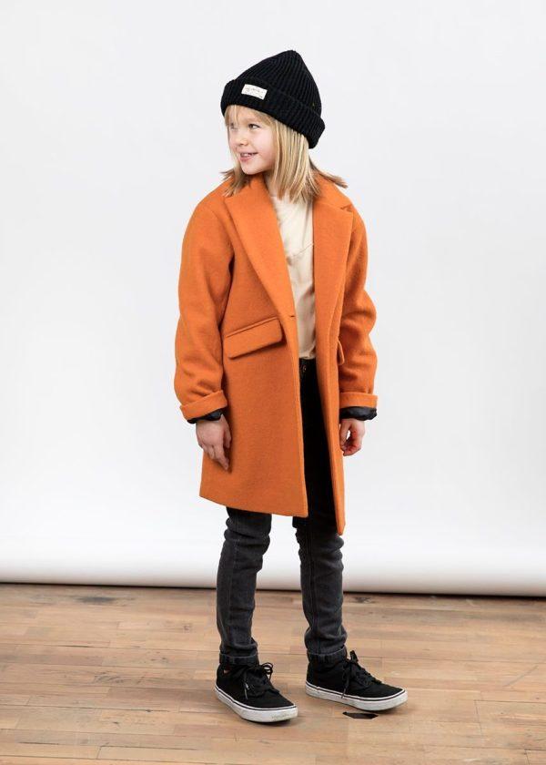 I Dig Bibbi Wool coat Orange