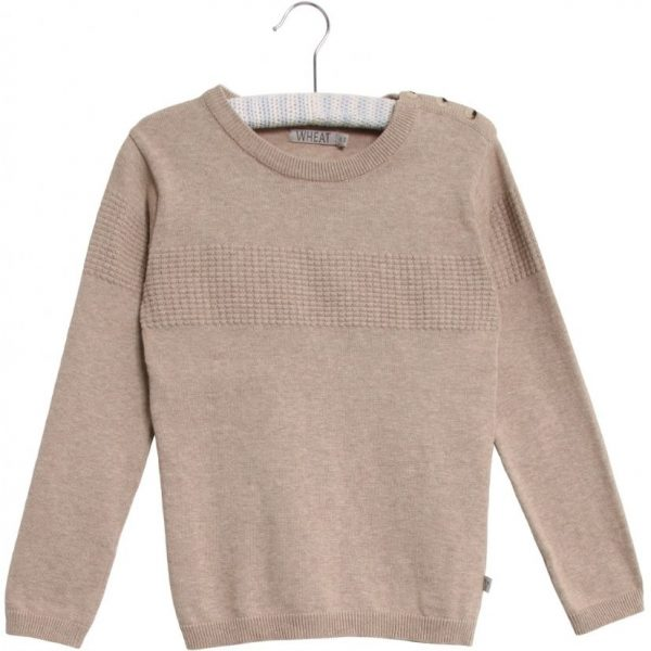 Wheat Knit Pullover Carlos melange sand