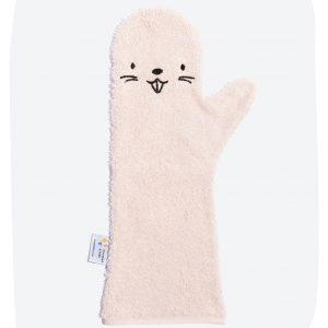 Babyshower Glove Bever Roze
