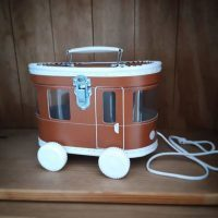 Tram (speel) Koffertje Bruin