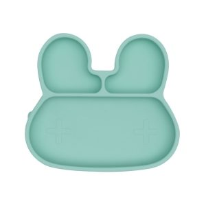 We Might Be Tiny Stickie Plate Bunny Mint