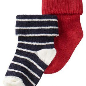 noppies sokken rood blauw wit streep