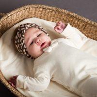 House Of Jamie Bow Tie Babysuit Cream Velvet