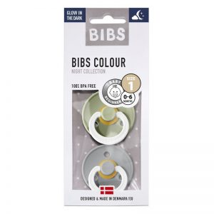 bibs blister 2 pack glow in the dark