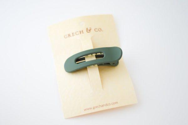 grech & co haarclip fern groen
