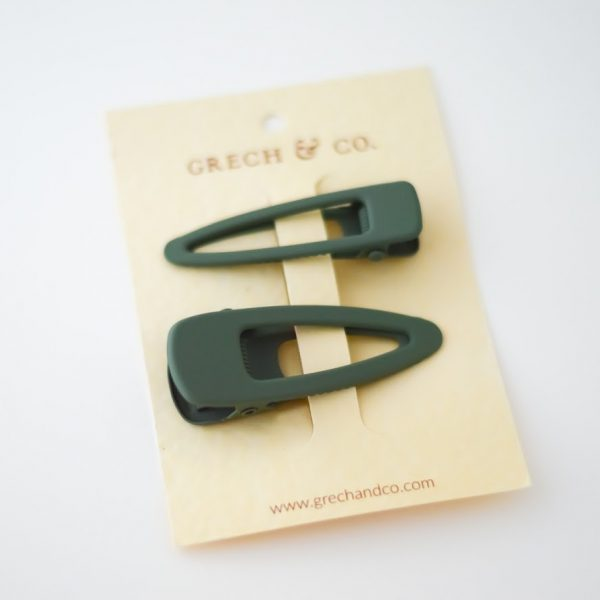 grech & co haarclips 2pack fern groen