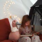 Love Me Decoration Linnen Circus Duck Pigeon Sand Pink