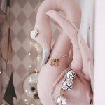 Love Me Decoration Linnen Swan Powder Pink