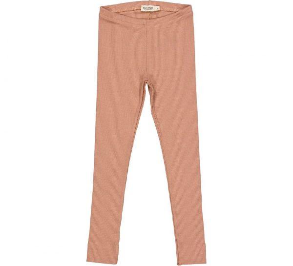 marmar legging modal rib rose brown oud roze