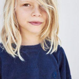I Dig Denim Totte Sweater Kids Dark Blue