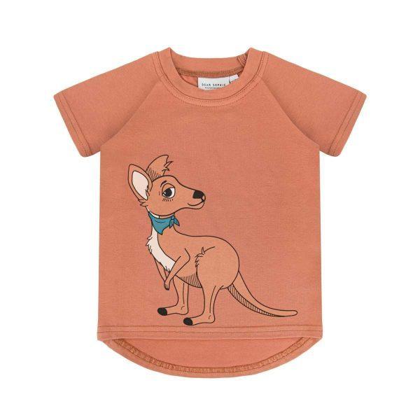 Dear Sophie Kangaroo T-Shirt Red Brick