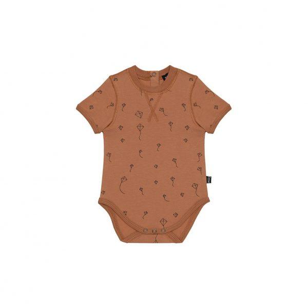 House Of Jamie Crewneck Bodysuit Burnt Ginger Kites