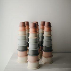 Mushie Stacking Cups Pastel