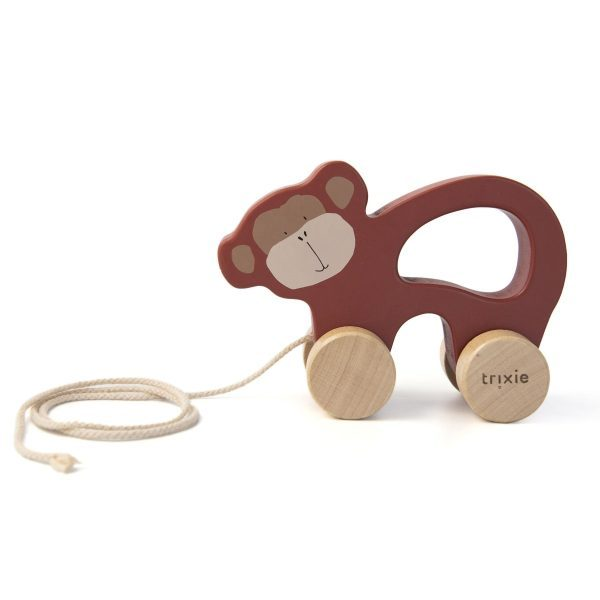 Trixie Wooden Pull Along Toy Mr Monkey
