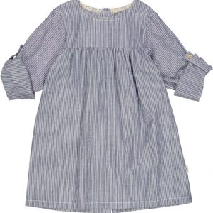 Wheat Dress Anine Cool Blue Stripe
