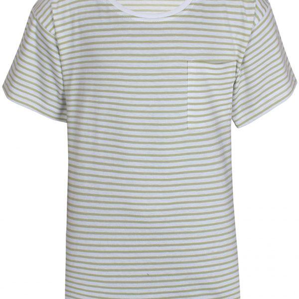 Kids Up T-Shirt Green Stripe