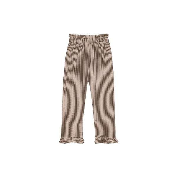 House Of Jamie Summer Paperbag pants Charcoal Sheer Stripes