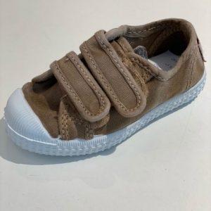 Cienta Sneaker Klittenband Beige/Beige Crep