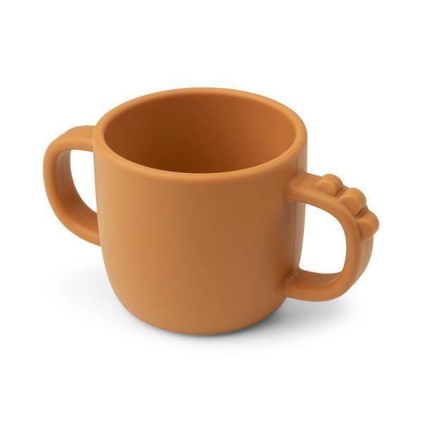 Done by Deer Peekaboo 2-handle Cup Croco Mustard