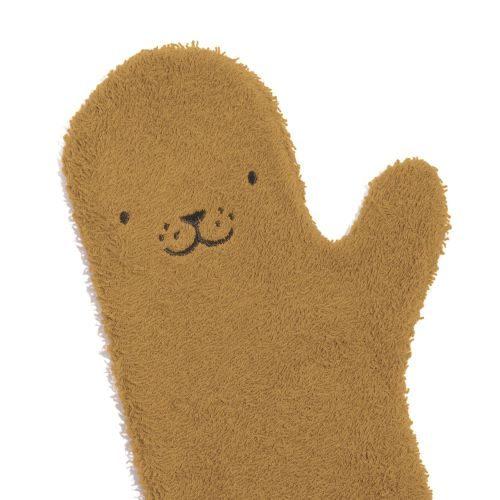 Invented4Kids Babyshower Glove Zeehond Caramel