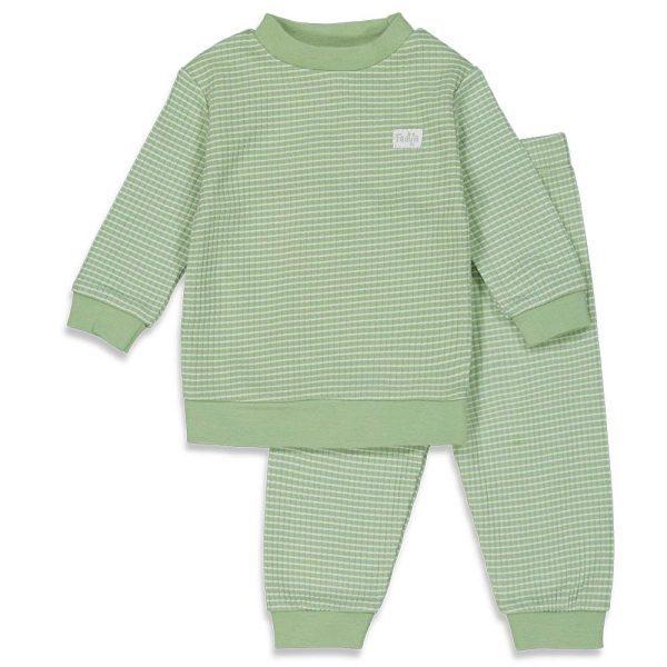 Feetje Wafel Pyjama Groen Summer Special