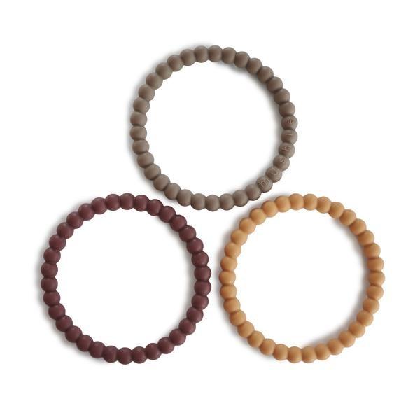 Mushie Silicone Bracelet Berry/Marigold/Khaki
