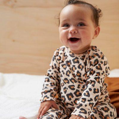 Feetje premium sleepwear collectie Leopard lux perzik